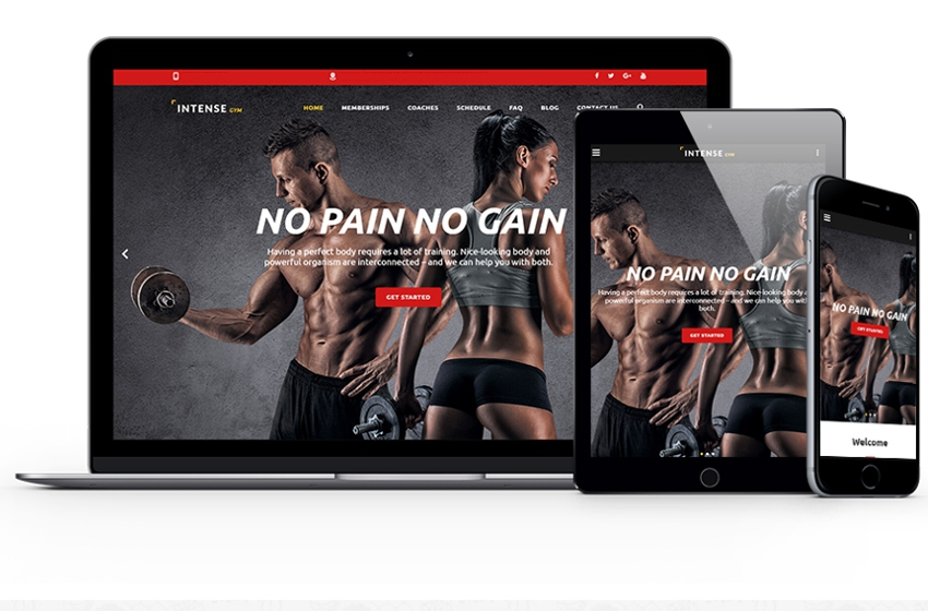 Website Design For Gym