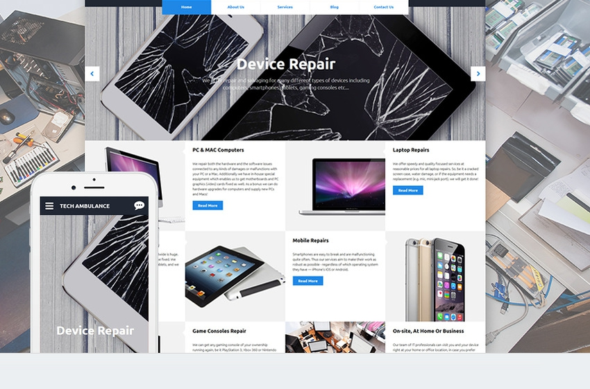Computer, Laptop and Phone Repair Website