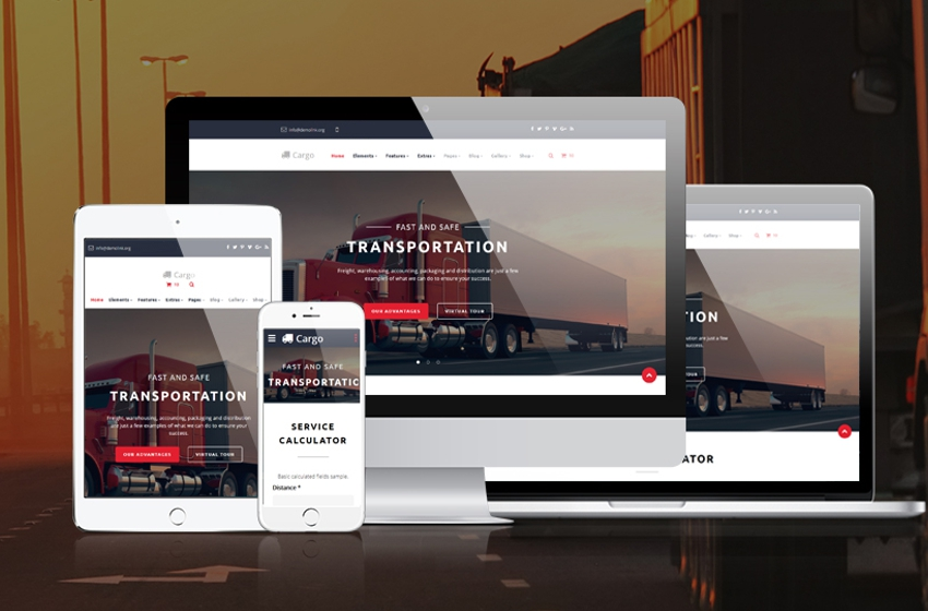 Transportation Website Design